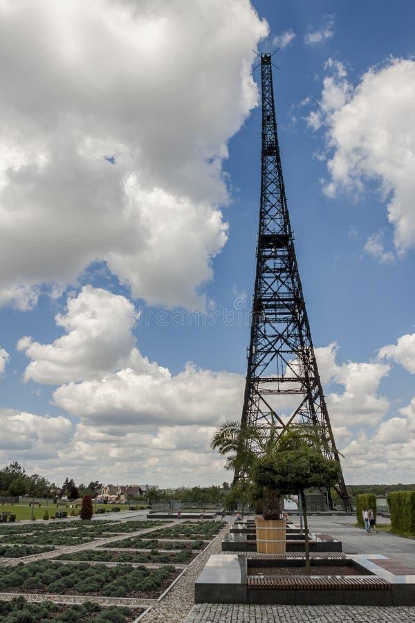 Torre histórica de la estación de radio en Gliwice, Polonia foto de archivo libre de regalías