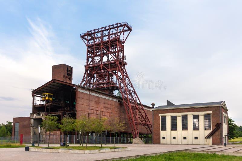 Torre histórica gelsenkirchen Alemanha da mineração fotos de stock