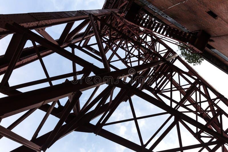 Torre histórica gelsenkirchen Alemanha da mineração imagem de stock royalty free