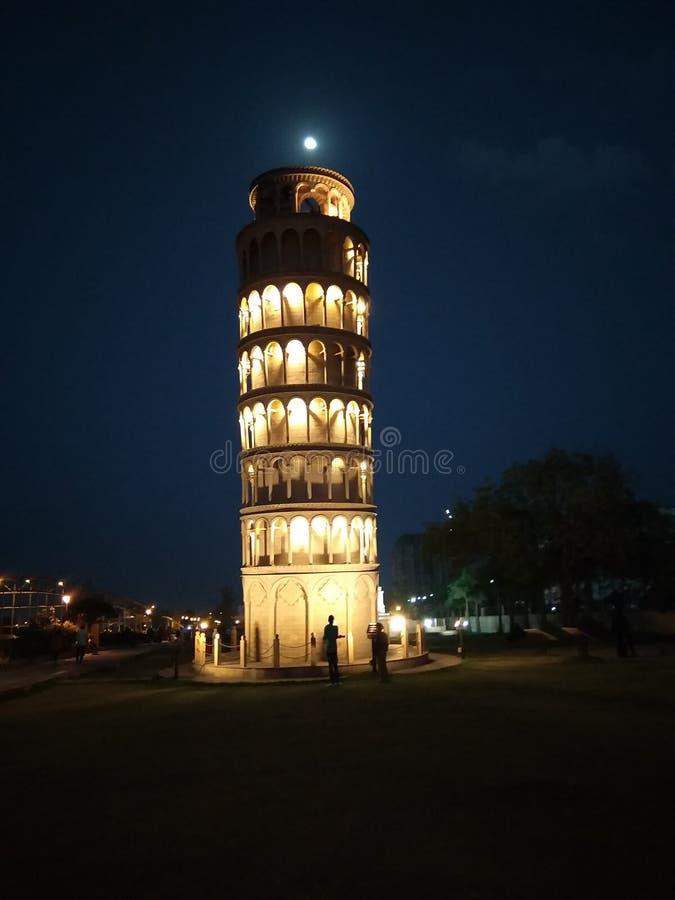 Torre iluminada fotografia de stock royalty free