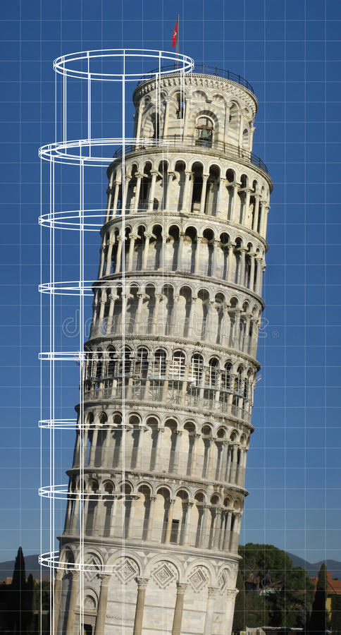 Torre inclinada de Pisa fotografia de stock royalty free