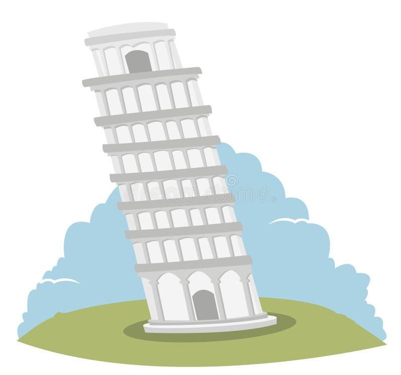 Torre inclinada de Pisa ilustración del vector