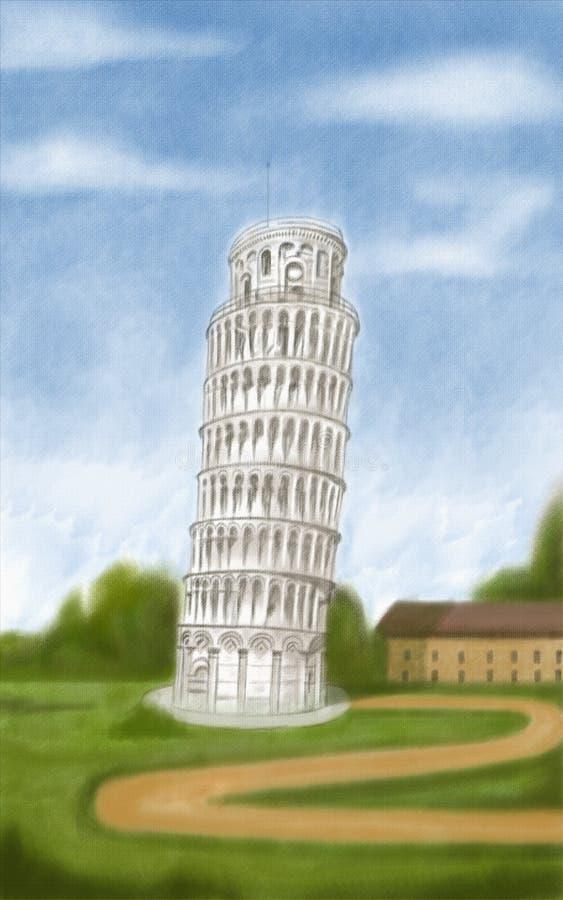 Torre inclinada de Pisa libre illustration