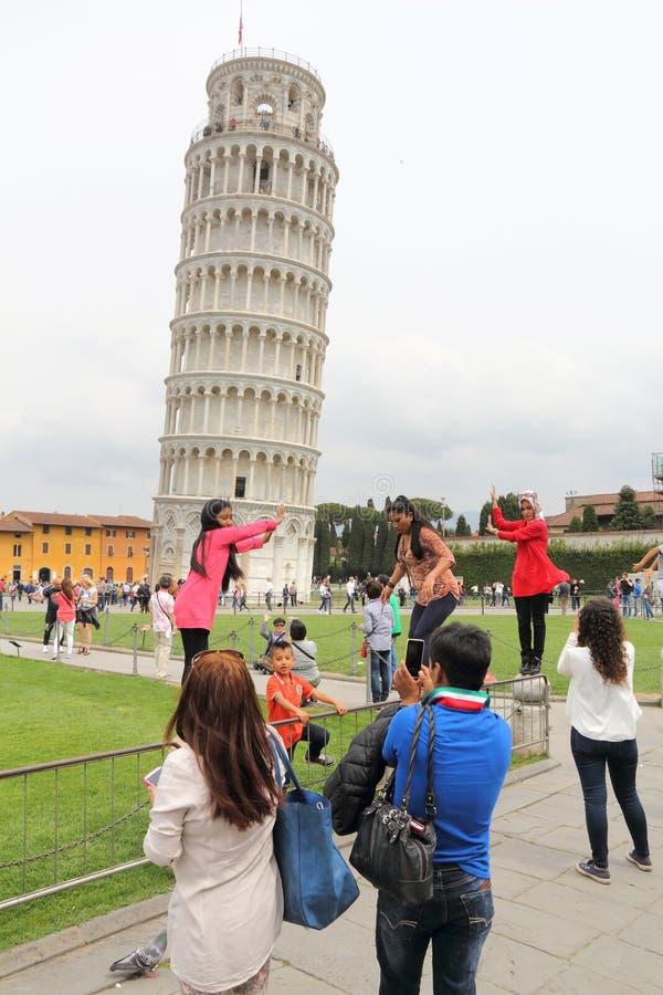 Torre inclinada de Pisa imagens de stock royalty free