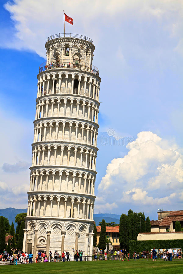 Torre inclinada de Pisa fotografia de stock royalty free