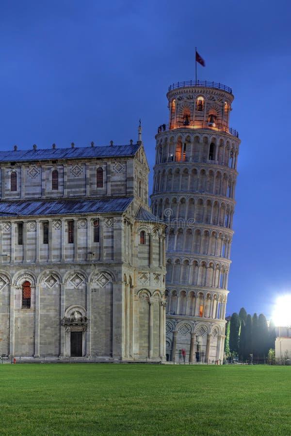 Torre inclinada de Pisa, Italy fotografia de stock royalty free