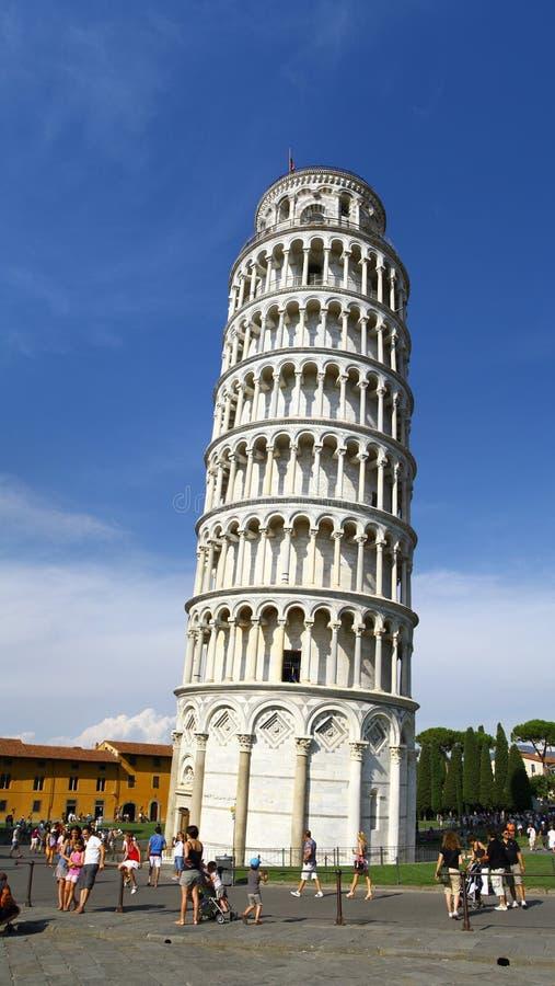 Torre inclinada de Pisa Italy imagem de stock