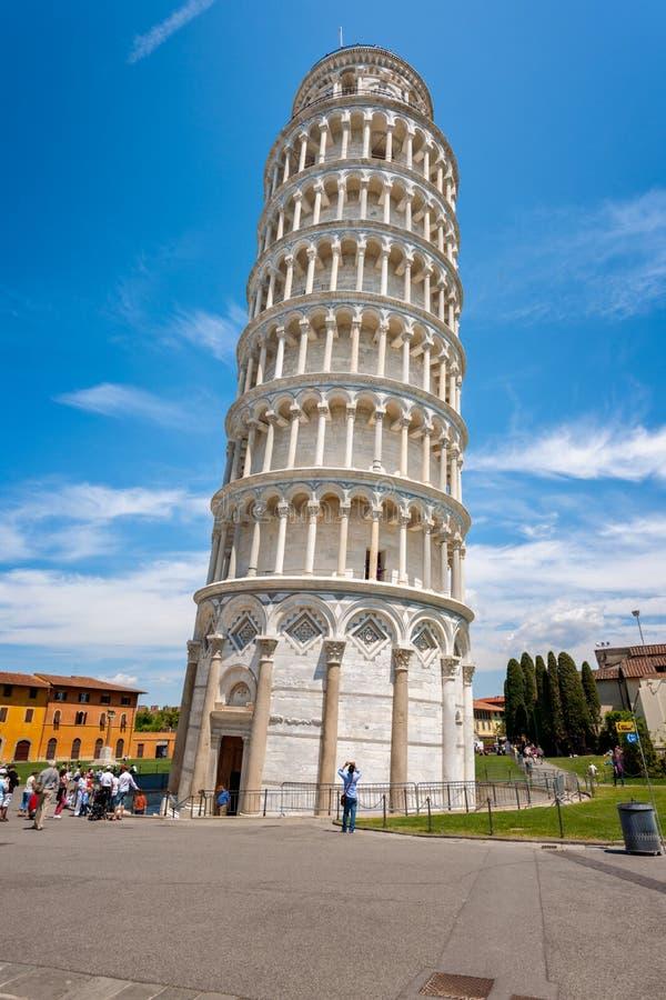A torre inclinada de Pisa, Italy foto de stock