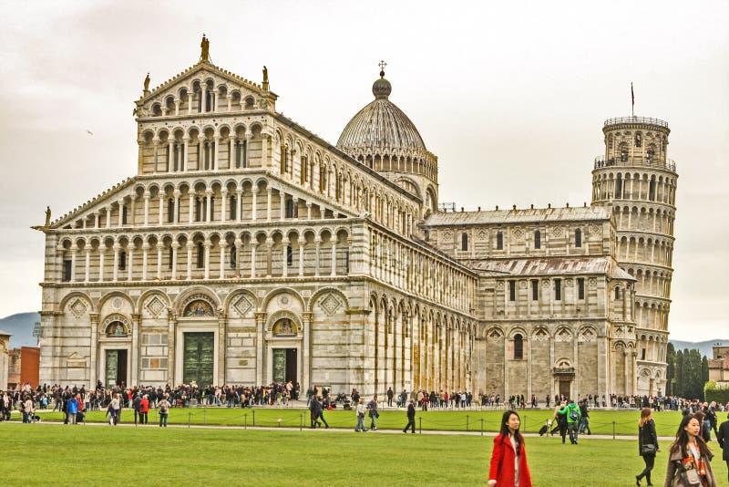 Torre inclinada de Pisa Monumentos italianos imagem de stock