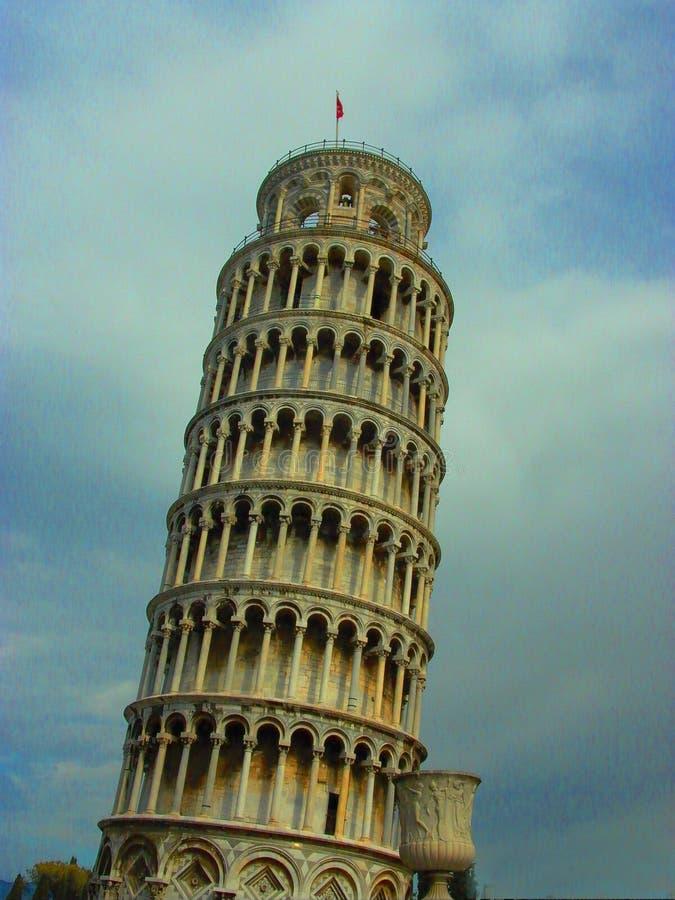 Torre inclinada Pisa Itália Inclina-se do vertical imagem de stock
