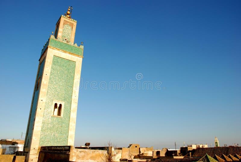 Torre islâmica da mesquita do minarete, Marrocos foto de stock royalty free