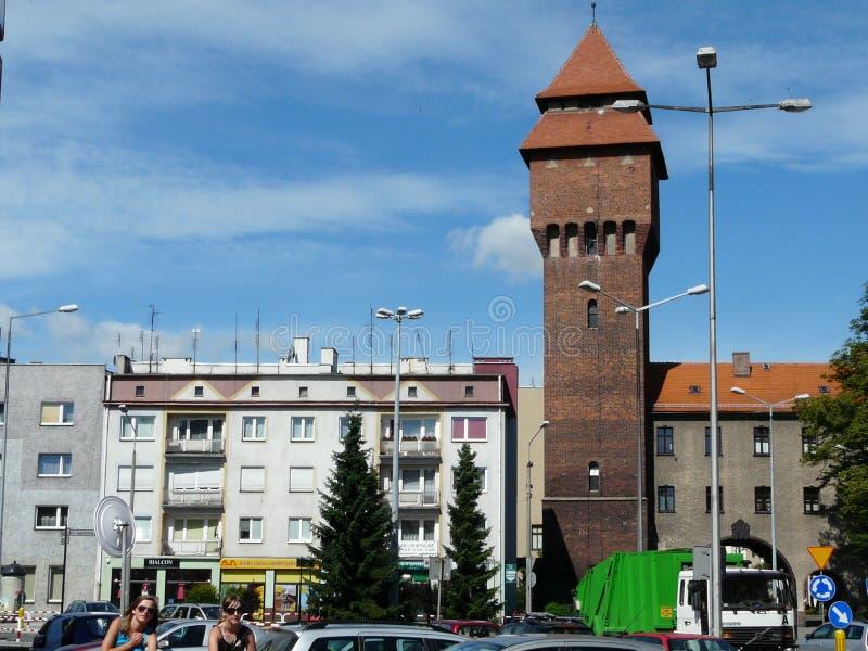 Torre krakow-Silesia da porta de KLUCZBORK A, Polônia imagens de stock royalty free