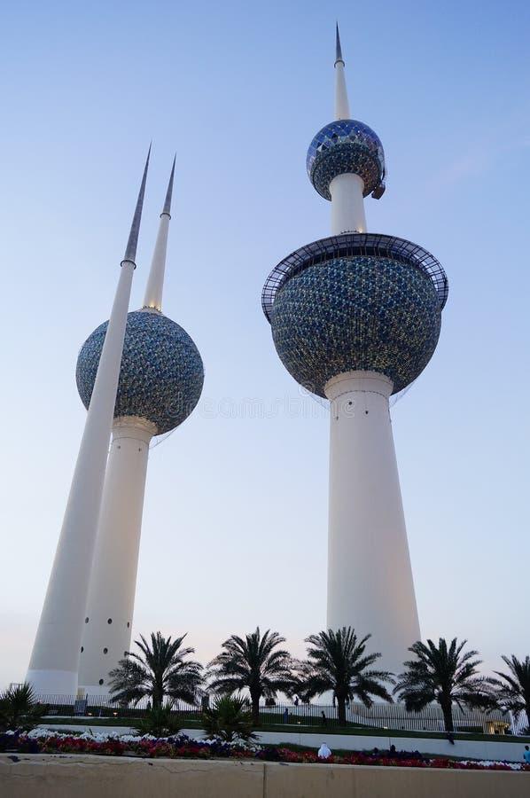 Torre Kuwait di Madinat al-Kuwait fotografie stock
