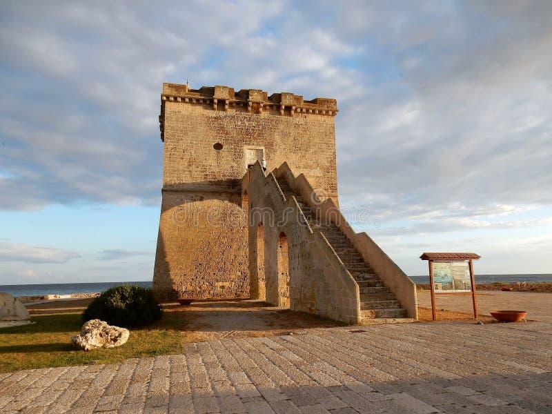 Torre Lapillo - Bezoekercentrum stock afbeeldingen