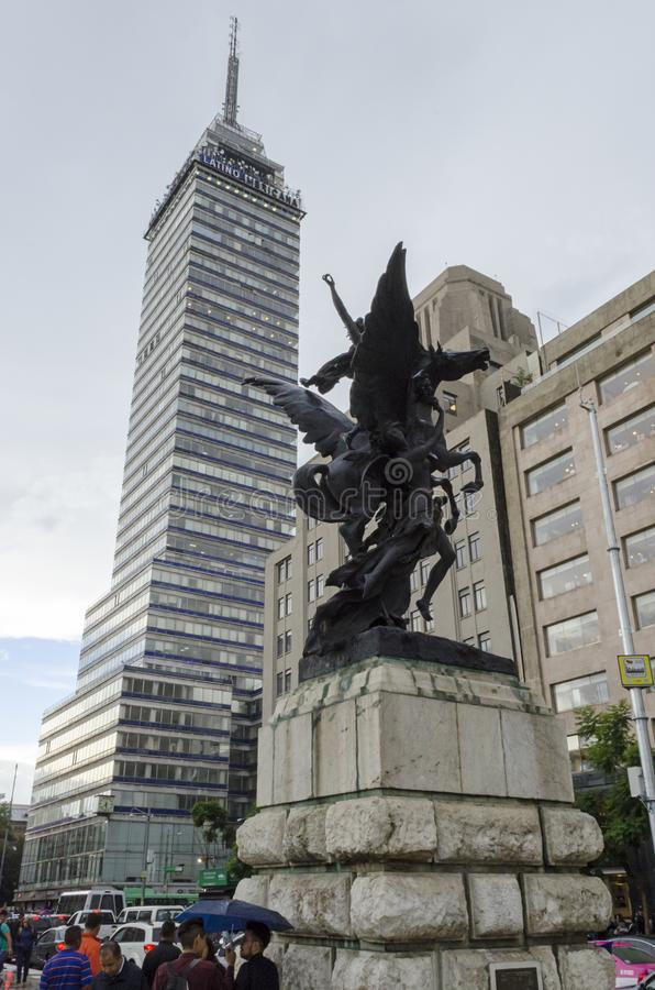 Torre Latinoamericana en Ciudad de México fotos de archivo