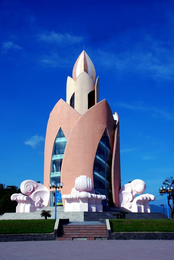 Torre Lotus in Nha Trang Vietnam fotografie stock libere da diritti