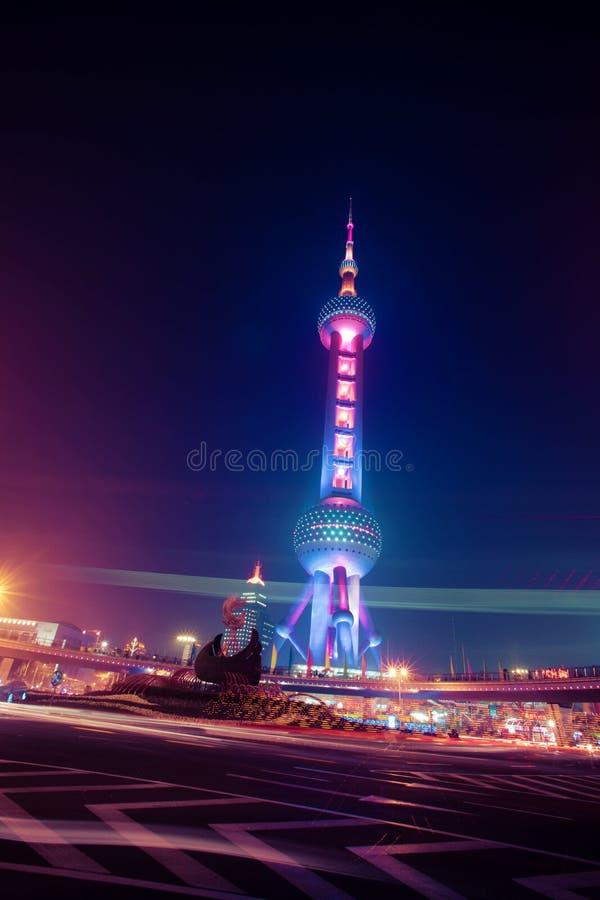 Torre mágica de la ciudad fotos de archivo