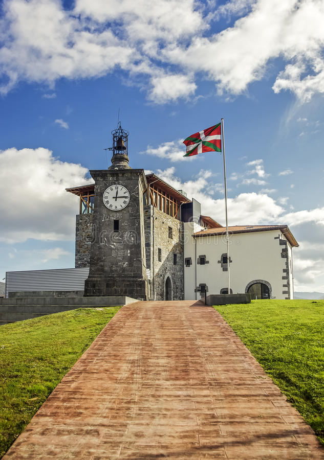 Download Torre  Madariaga stock image. Image of flag, bizkaia - 29270921