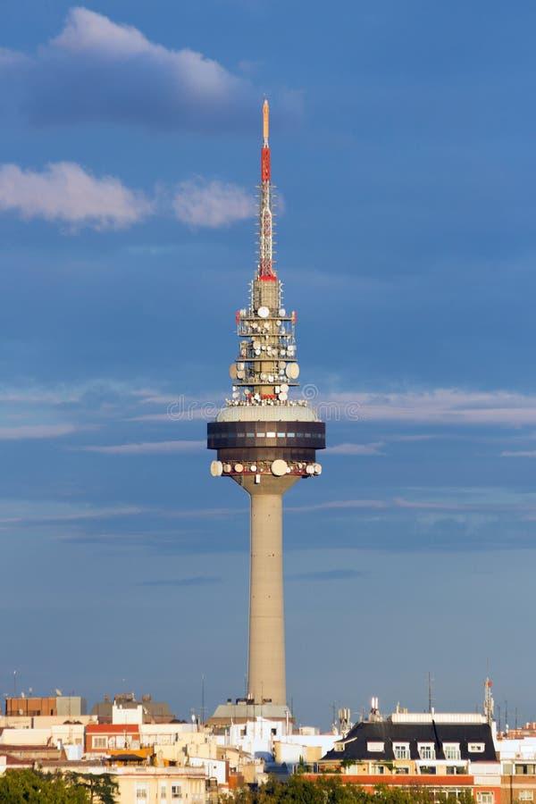 Torre Madrid della televisione di Torrespana immagini stock