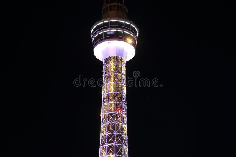 Torre marina di Yokohama in Kanagawa, Giappone immagini stock libere da diritti