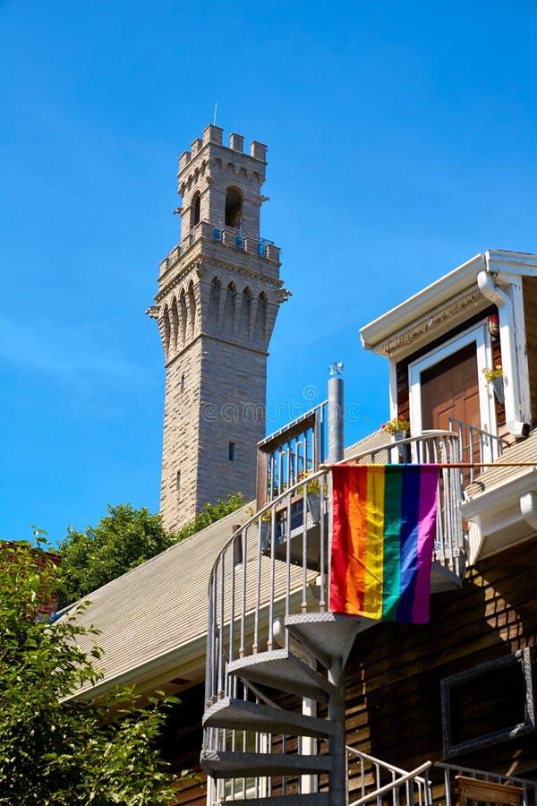 Torre Massachusetts del peregrino de Cape Cod Provincetown fotografía de archivo