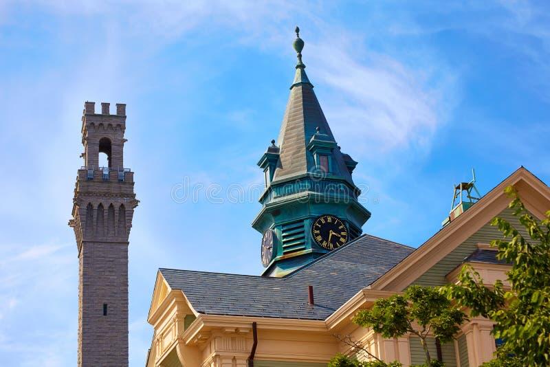 Torre Massachusetts del peregrino de Cape Cod Provincetown imagen de archivo libre de regalías