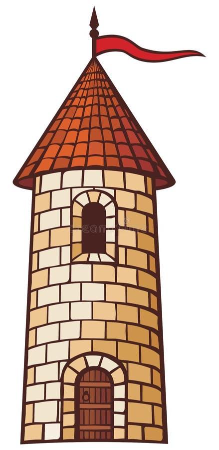 Torre medieval ilustración del vector