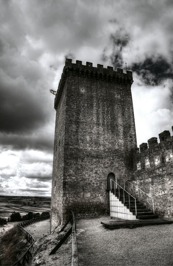 Torre medieval del castillo fotografía de archivo libre de regalías