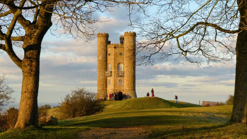 Torre medieval no Cotswold, Worcestershire de Broadway, Inglaterra, Reino Unido imagens de stock royalty free