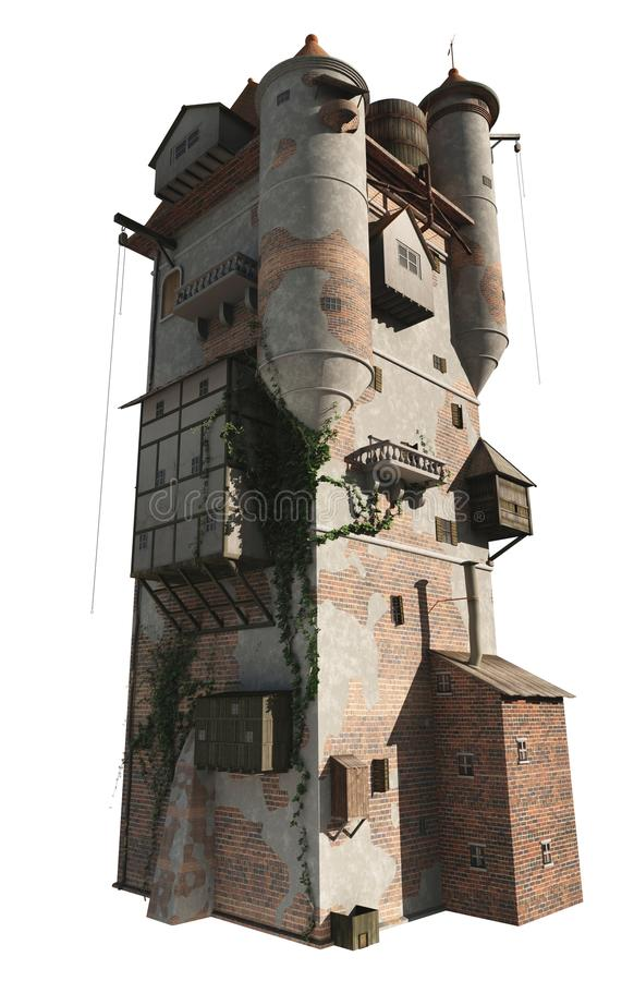 Torre medieval ou do feiticeiro, versão isolada ilustração do vetor