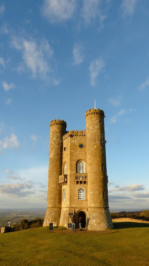 Torre medievale nel Cotswold, Worcestershire, Inghilterra, Regno Unito di Broadway fotografie stock