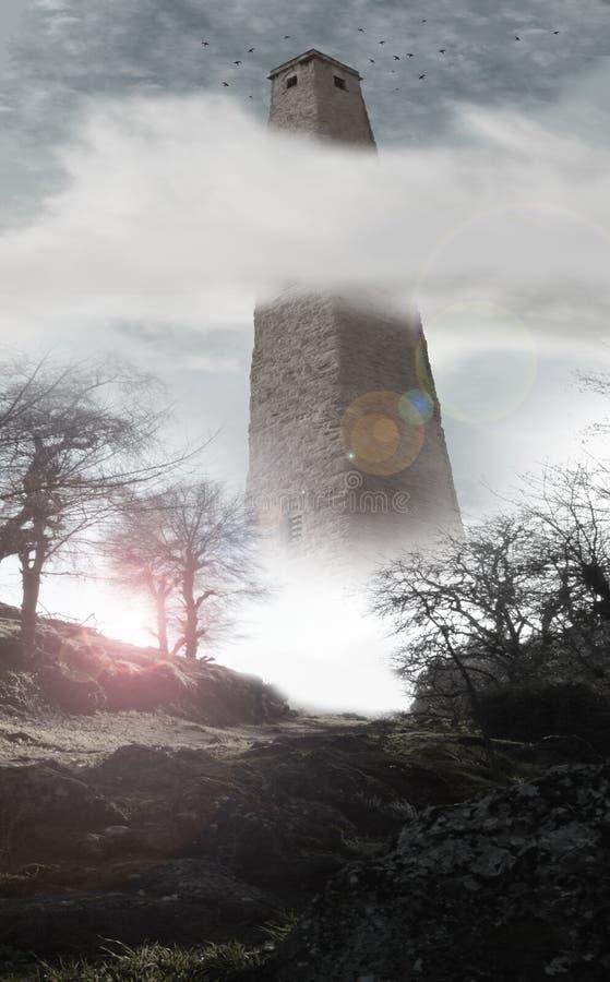 Torre mega com corvos ilustração royalty free