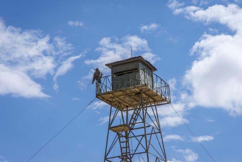 Torre militare del confine, Kirghizistan immagine stock libera da diritti