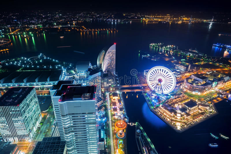 Torre Minato Mirai Yokohama Japan do marco foto de stock royalty free