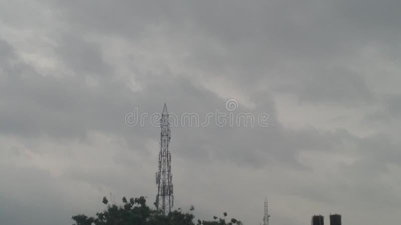 Torre mobile, cielo, paesaggio, natura, tecnologia fotografia stock