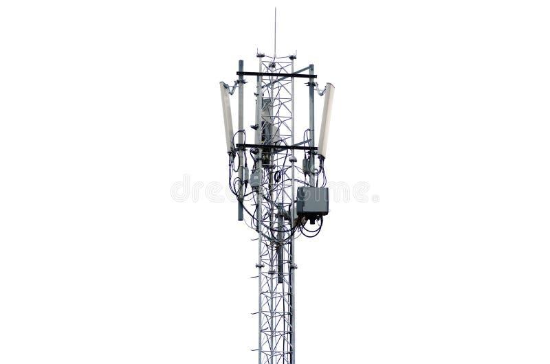 Torre mobile su bianco fotografia stock