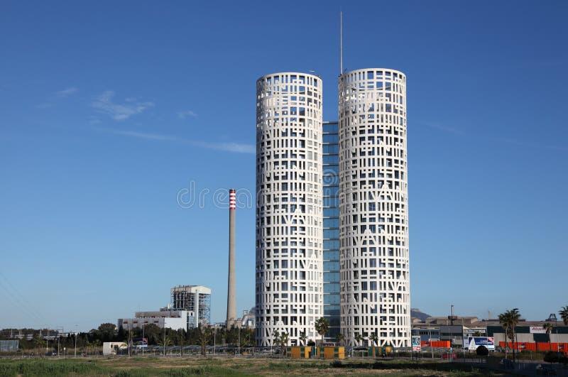 Torre moderna de la oficina en Algeciras foto de archivo