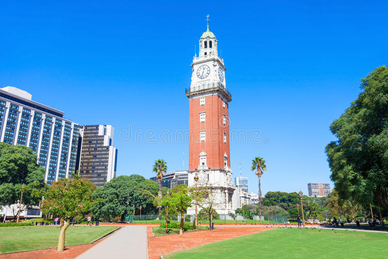 Torre Monumental, Buenos Aires. Torre Monumental or Torre de los Ingleses (Tower of the English) is a clock tower in the district of Retiro in Buenos Aires royalty free stock image
