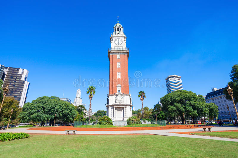 Torre Monumental, Buenos Aires. Torre Monumental or Torre de los Ingleses (Tower of the English) is a clock tower in the district of Retiro in Buenos Aires stock photography