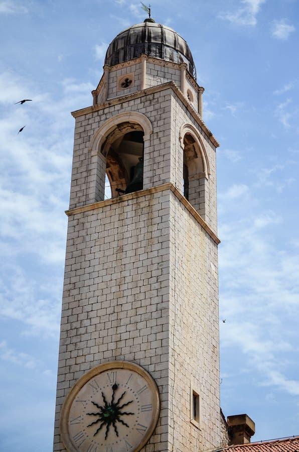 Torre na cidade velha de Dubrovnik imagens de stock