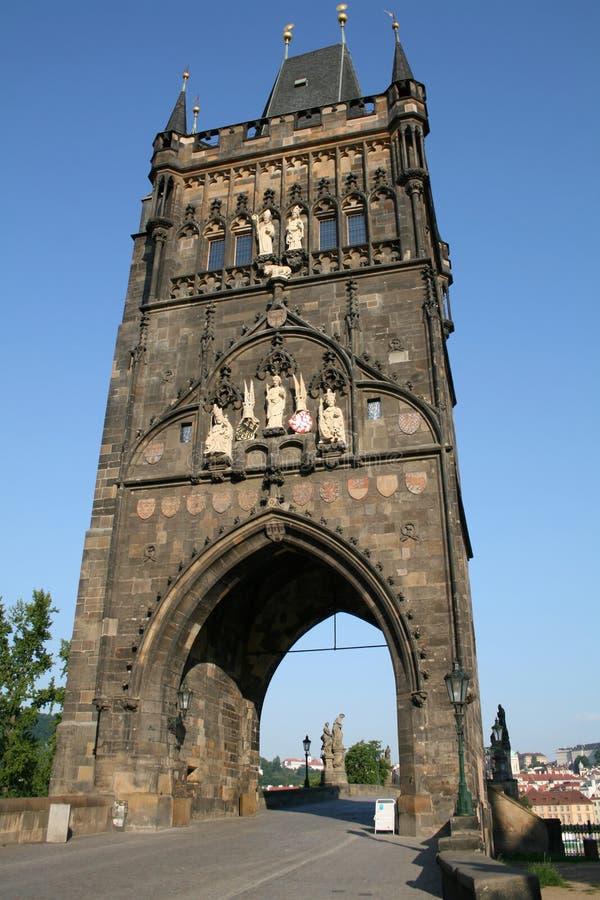Torre na ponte Praga de Charles fotos de stock royalty free