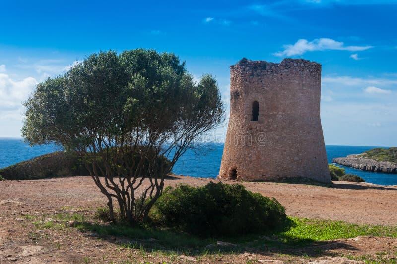 Torre na praia foto de stock royalty free