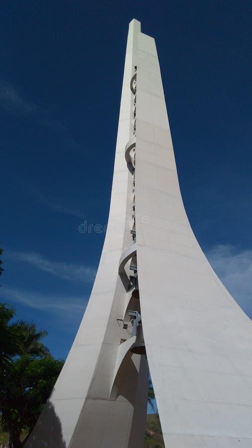 Torre nacional do santuário projetada por Oscar Niemeyer imagens de stock royalty free