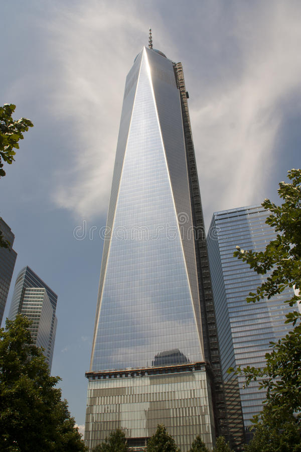 Torre 1 New York del World Trade Center fotografie stock libere da diritti