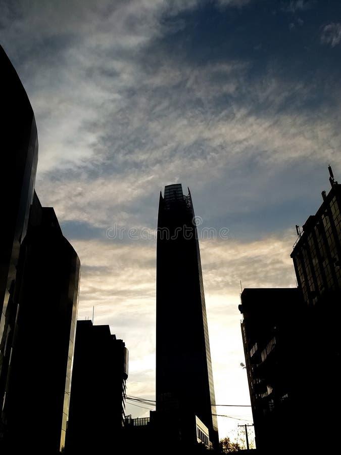 A torre no céu fotografia de stock royalty free