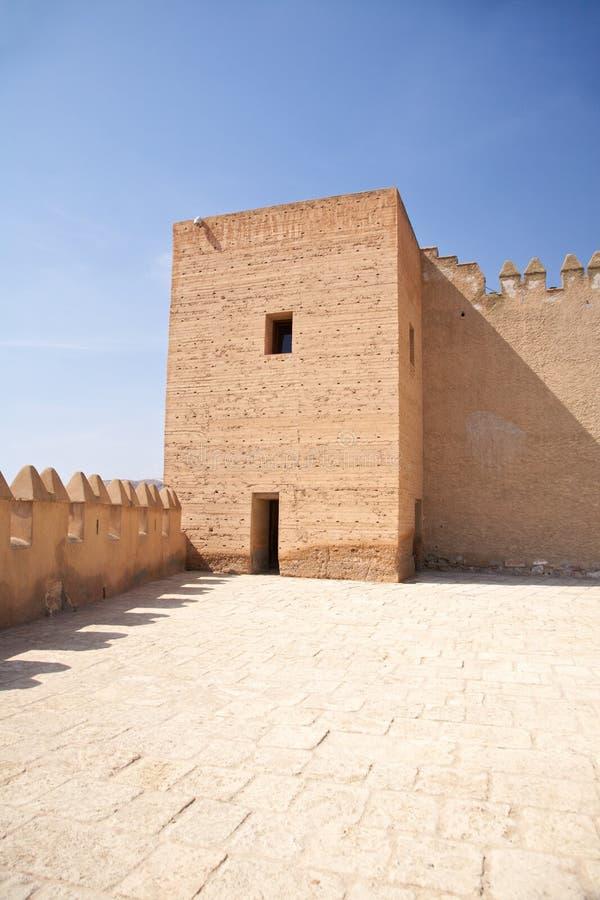 Torre no castelo de Almeria fotografia de stock royalty free