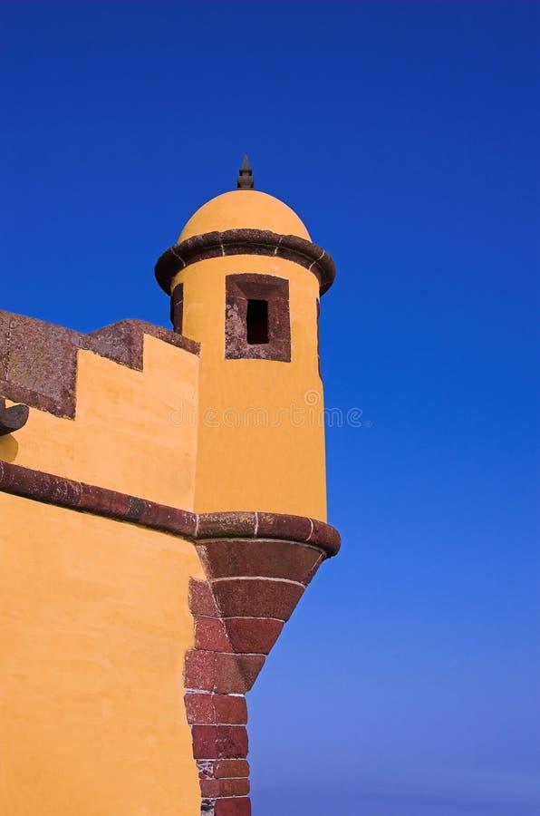 Torre no console de Madeira foto de stock