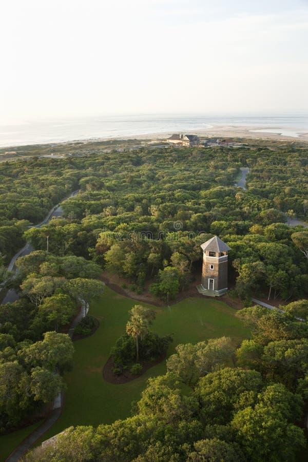 Torre no parque litoral. imagens de stock