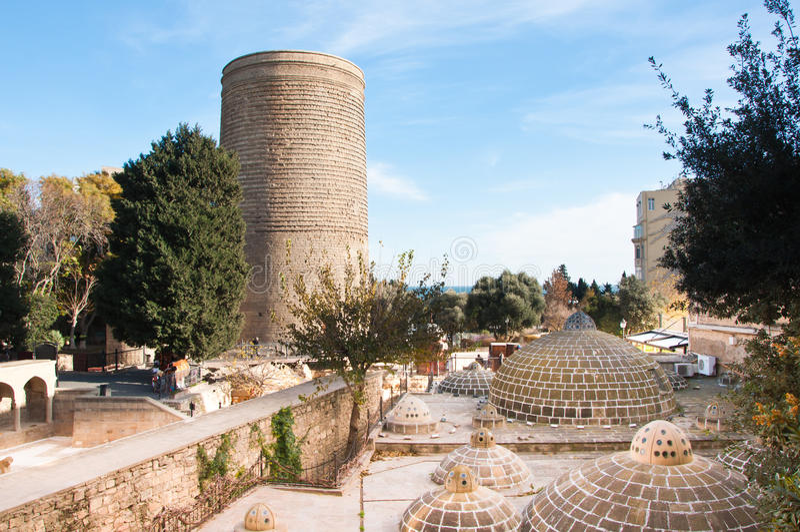 A torre nova, Baku, Azerbaijão imagens de stock royalty free