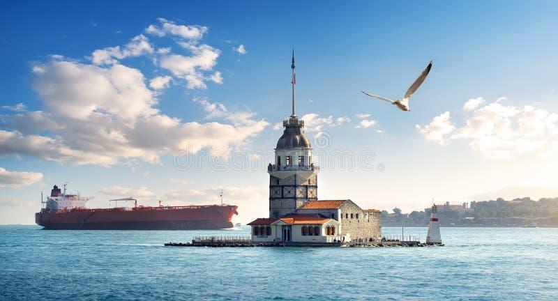 Torre nova em Istambul no dia foto de stock royalty free